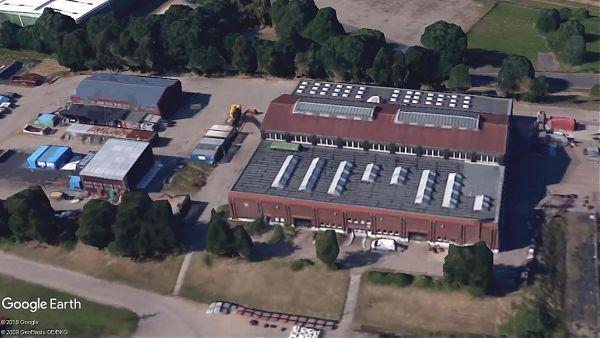 Wasser- und Schifffahrtsamt, Hamburg (Werftgebäude Wedel) - Planung und Baubegleitung 2.100 m² - Google Earth ©2018 Google, ©2009 GeoBasis-DE/BKG