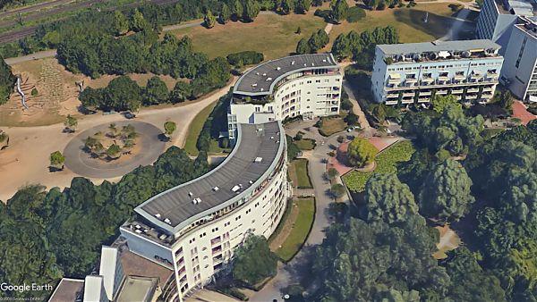 Mediapark, Köln - Planung, Begleitung und Abnahme der Dachsanierung - Google Earth ©2009 GeoBasis-DE/BKG